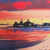 Artist Peter Klocksien rendition of a Cove Cottage sunset.